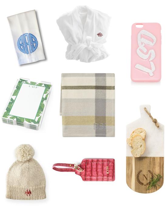 monogram gift ideas holidays