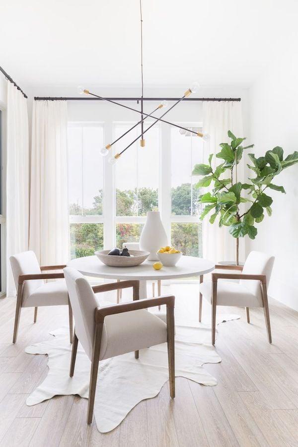 modern light fixture dining room