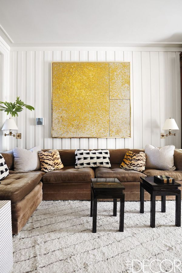 East Village chic living room