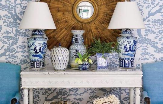 Home Tour: Classic Blue and White Charm in Atlanta, Georgia