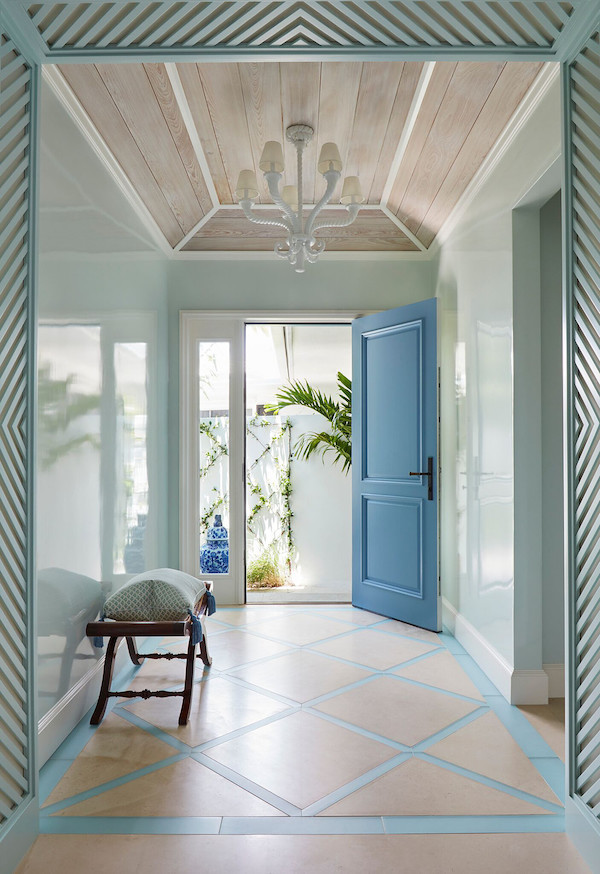blue white palm beach perfection