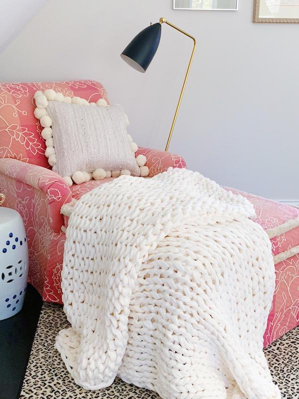 October Favorites Chunky knit throw