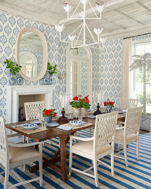 Chandelier height dining table