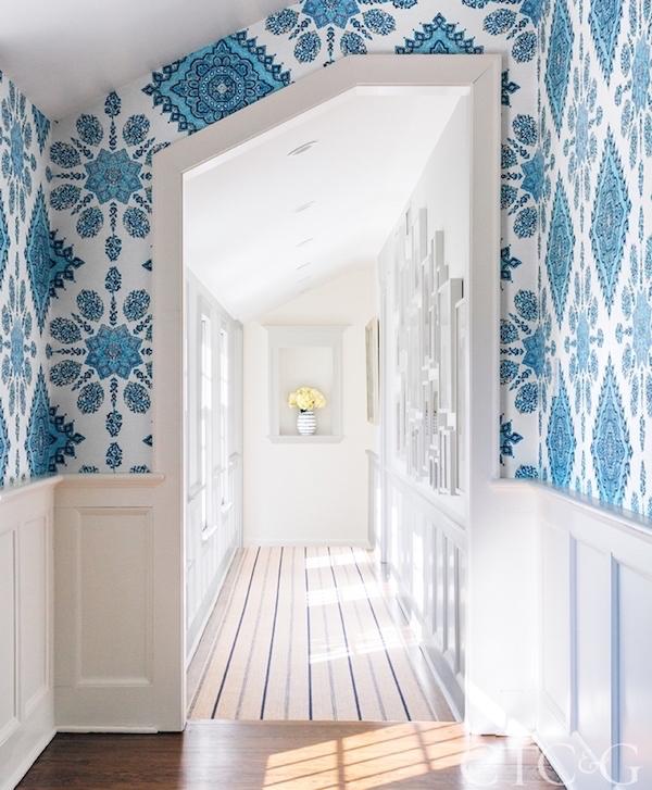 blue white color palette home design