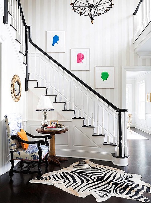 How To Decorate A Staircase Wall | The Zhush Blog